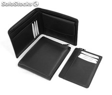 Multi Functional Wallet Black Cowhide Nappa