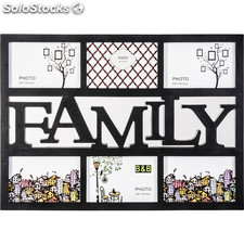 Multimarco 6 fotos family negro 49 x 36 cm - b and b - 8430026529919 - 57813