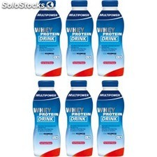 Multipower Whey Protein Drink 6 botellas x 500 ml