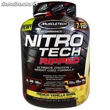 MuscleTech Nitro Tech Ripped Powder, French Vanilla Swirl, 4lbs