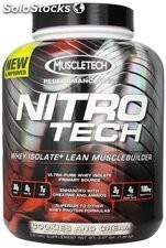 MuscleTech NitroTech Protein Powder, Strawberry, 3.97 lbs