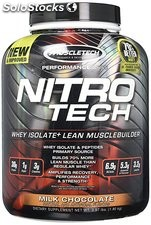 MuscleTech NitroTech Protein Powder, Whey Isolate Milk Chocolate, 3.97 lbs