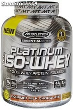 MuscleTech Platinum 100% ISO Whey Chocolate, 3.34 lbs