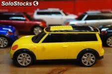 Music car altavoz digital stereo FM portatil mini cooper amarillo usb sd MP3/4