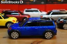Music car altavoz digital stereo FM portatil mini cooper azul usb sd MP3 MP4