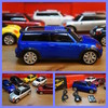 Music car altavoz digital stereo FM portatil mini cooper blue usb sd MP3 MP4
