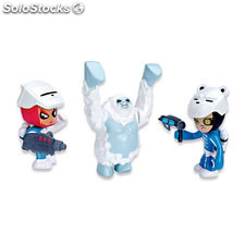 Mutant Busters 3 Figuras Nieve Brutux, Shooter y Hell Freeze