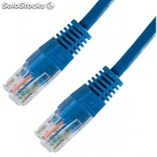 Nanocable - cable red latiguillo RJ45 cat.6 utp AWG24, azul, 0.5 m