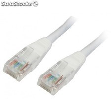 Nanocable - cable red latiguillo RJ45 cat.6 utp AWG24, blanco, 1.0 m