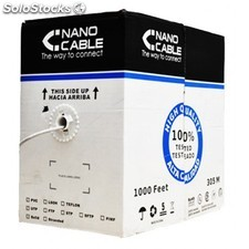 Nanocable - cable red RJ45 cat.6 ftp rigido AWG24, 305 m