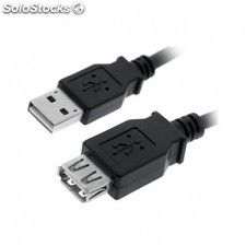 Nanocable - cable usb 2.0, tipo a/m-a/h, negro, 3.0 m