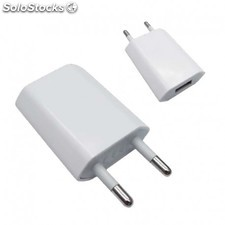 Nanocable - mini cargador usb para ipod iphone,5V-1A, blanco