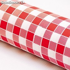"Nappe aneto - 100 m ""vichy rouge"" 50 g/M2 120 cm blanc cellulose"