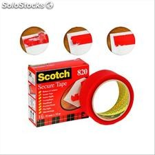 Nastro Scotch® Secure Tape - 35 mm x 33 m - rosso - 93008
