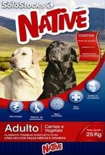 Native adulto - Carne e Vegetais