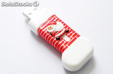 Navidad memoria usb Flash Drive USB 2.0 pendrive al por mayor319