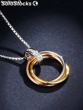 Necklace of 925 silver with Cubic Zirconite.