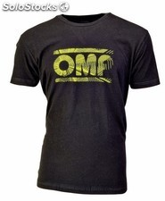 Negro camiseta omp con logo amarillo para child (2 years old)