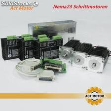 Nema 23 stepper motor 400oz-in cnc 3axis act motor