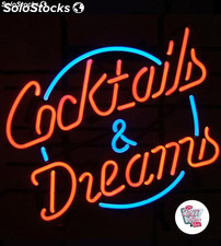 Neon Retro Cocktails and Dreams