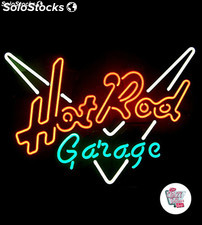 Neon Retro Hot Rod Garage