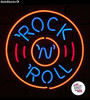 Neon Retro Rock and Roll Circle