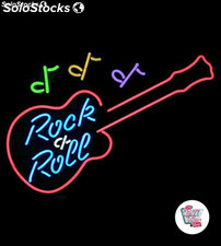 Neon Retro Rock and Roll Guitar