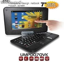 Netbook /umpc/laptop note book android 2.2 tela giratória e tocar 800MHz 256m