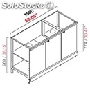 Neutral bar counter-semis from panel-mod. rbl15003ante-metal frame-# 3 swing