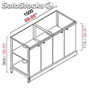 Neutral bar counter-semis from panel-mod. rbl15004ante-metal frame-# 4 swing
