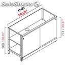 Neutral bar counter-semis from panel-mod. rbl1500scorr-metal frame-# 2 sliding