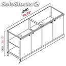 Neutral bar counter-semis from panel-mod. rbl20004ante-metal frame-# 4 swing