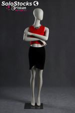 New abstract female mannequin pearl white