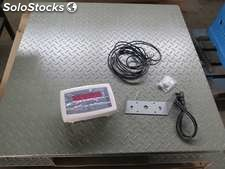 New Electronic Scale 3000 kg with a tray of 1 x 1 meter. Digital marking with