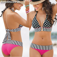 New Sexy Women Swimwear Bikini Set Bandeau Push-Up Bra Padded Swimsuit Beachwear