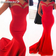 New Women Sexy Mermaid Net Evening Party Formal Gown Cocktail Maxi Dress XL