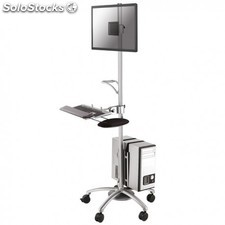 Newstar - FPMA-MOBILE1800 Multimedia cart Plata mueble y soporte para