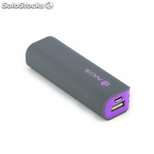 NGS - PowerPump 2200 Grape Ión de litio 2200mAh Gris, Violeta batería externa