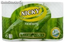 Nicky Papel Higienico Nature Aloe Vera 6 Rollos Nicky