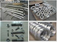 nimonic steel flange round bar wire rod fasteners tube pipe fittings forging