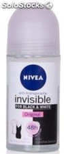 Nivea Desodorante Roll-on 50 Ml. Invisible Black & Withe 48 H