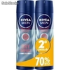 Nivea desodorante spray 200ml dry impact for men segunda unidad 70%