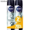 Nivea desodorante spray 200ml.invisible for men segunda unidad 70% dto