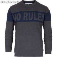 No rules jumper - gris oscuro - the indian face - 8433856052824 - 14-016-02-l