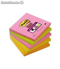 Notas adh. post-it supersticky 5 blocs 76x76 neon cape town
