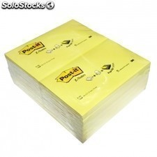 Notas adhesivas 3m- pack 12 unidades -100 hojas post-it zig-zag -76 x 127mm
