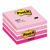 Notas adhesivas post-it cubo 76 x 76 mm . color rosa pastel, 450