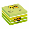 Notas adhesivas post-it cubo 76 x 76 mm. color verde pastel, 450