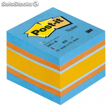 Notas adhesivas post-it mini cubo