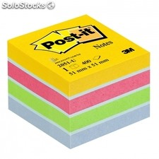 Notas adhesivas post-it mini cubo 51X51MM amarillo ultra compuesto por los